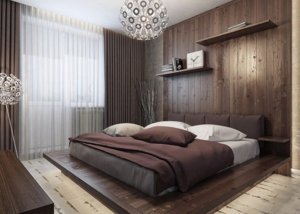 спальня лофт