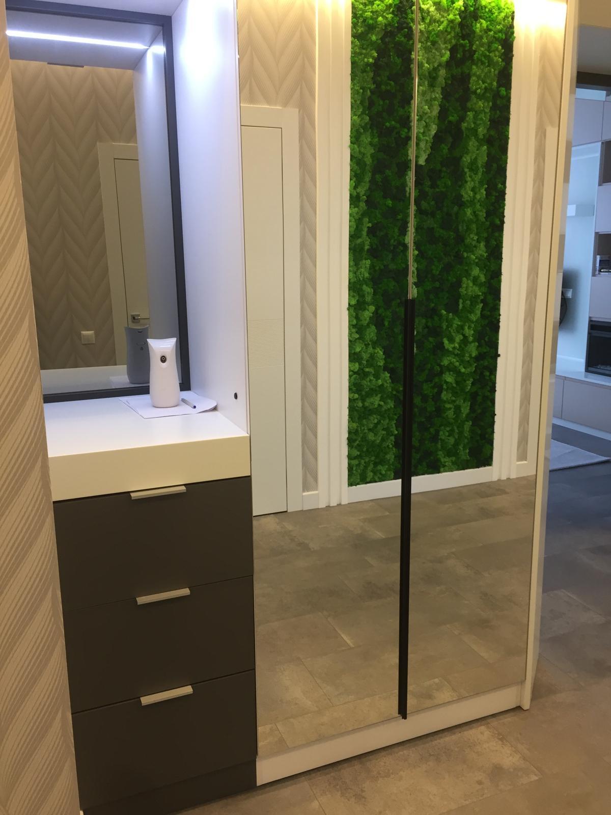 Зеркальный шкаф-купе из массива дерева под заказ в Сочи